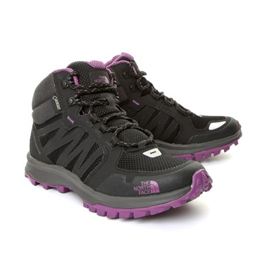 SİYAH Kadın Outdoor Bot T92Y8PRJS W THE NORTH FACE LITEWAVE FASTPACK MID GTX TNFBLK-WDVIOLET